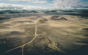 Картинка дорога, небо, холмы, пустыня, DEFENDER ICELAND