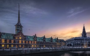 Картинка вечер, Дания, Копенгаген