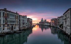 Картинка город, здания, дома, утро, Италия, Венеция, канал, Игорь Соколовский