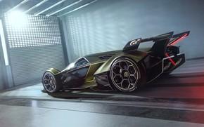 Картинка Lamborghini, Колеса, Концепт-кар, Lambo, Диски, V12, Vision Gran Turismo, 2019, Lambo V12 Vision