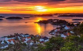 Картинка Sunset, Norway, Arendal, Rævesand