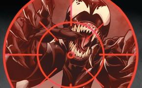 Картинка язык, монстр, зубы, прицел, комиксы, комикс, Веном, Venom