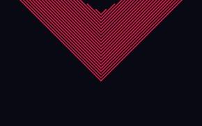 Картинка линии, фон, темный, красные