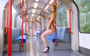 Картинка секси, модель, красотка, фигурка, Sophie, платьице, красивые ножки