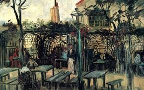 Картинка Винсент ван Гог, La Guinguette, Terrace of a Cafe, on Montmartre