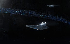 Картинка Космос, Star Wars, Империя, Space, Космические Корабли, Космический Корабль, Star Destroyer, Фантастика, Звезда Смерти, Science …