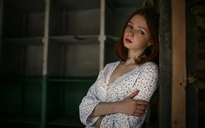 Картинка глаза, взгляд, волосы, Девушка, рыжая, Sergey Nevzorov