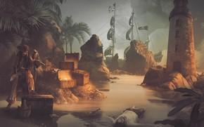 Картинка пираты, Джек Воробей, фотоарт