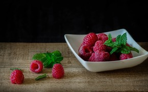 Картинка ягоды, малина, натюрморт