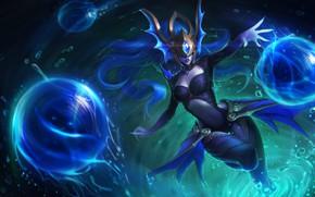 Картинка Girl, Fantasy, Art, League of Legends, Illustration, LoL, Syndra, Game Art, Henukim, by Henukim