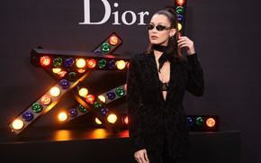 Картинка модель, очки, Dior, Bella Hadid