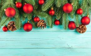 Картинка украшения, шары, Новый Год, Рождество, Christmas, balls, wood, New Year, decoration, xmas, Merry, fir tree, …