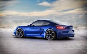 Картинка спортивное купе, Porsche Cayman GT4, Javier Oquendo