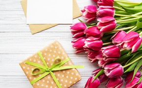 Картинка подарок, букет, тюльпаны, Olena Rudo
