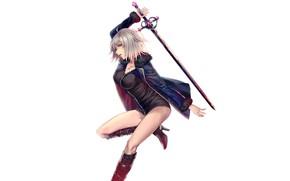 Картинка девушка, меч, Fate/Grand Order, Joan Alter, Redapple999, Joan of Arc Fate/Apocrypha