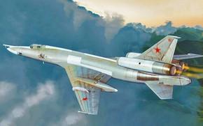 Картинка bomber, art, airplane, aviation, jet, Tupolev Tu-22