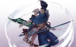 Картинка Riven, League Of Legends, Yasuo