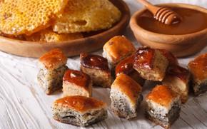 Картинка мак, мед, выпечка, шулики