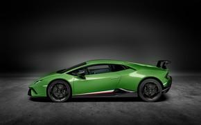 Картинка Lamborghini, суперкар, вид сбоку, Performante, Huracan