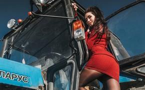 Картинка dress, brunette, pose, Антон Харисов