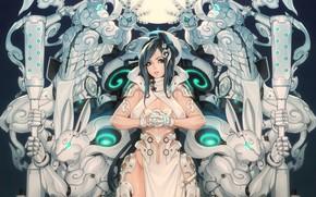 Картинка Girl, Fantasy, Gun, Sexy, Art, Robots, Machine, Minimalism, Cyborg, Characters, Rabbit, Bunny, Rabbits, Bunnies, Ren …