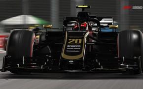 Картинка трасса, гоночный автомобиль, F1 2019, Haas VF-19