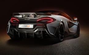 Картинка McLaren, суперкар, вид сзади, 2019, 600LT