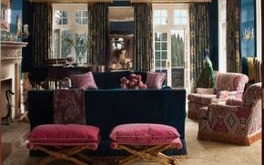 Картинка дизайн, стиль, интерьер, камин, гостиная, Berkshire, Tudor style