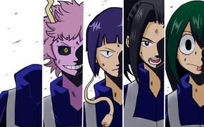 Картинка коллаж, арт, персонажи, My Hero Academia, Boku No Hero Academia, Моя Геройская Академия