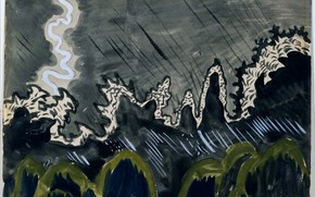 Картинка July 15, 1916, Charles Ephraim Burchfield, Impression of Lightning