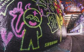 Картинка город, улица, граффити