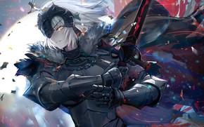 Картинка Девушка, Меч, Рыцарь, Fate / Grand Order, Судьба великая кампания