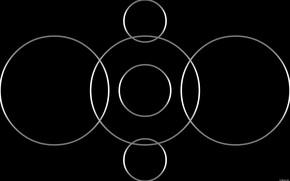 Картинка круги, фон, темный