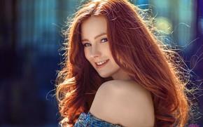 Картинка girl, photo, model, redhead, portrait, bare shoulders, MWL Photo, Aleksandra Girskaya, Alexandra Girskaya