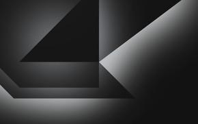 Картинка серый, abstract, dark, формы, грани, fon, gray, shapes