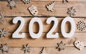 Картинка украшения, снежинки, Новый Год, new year, happy, wood, snowflakes, decoration, 2020