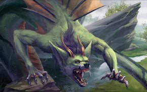 Картинка fantasy, Art, dragon