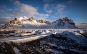 Картинка горы, Исландия, Iceland, Auster-Skaftafellssysla, Vestrahorn