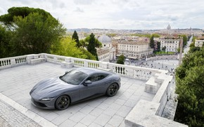 Картинка Италия, Ferrari, суперкар, Roma, 2020