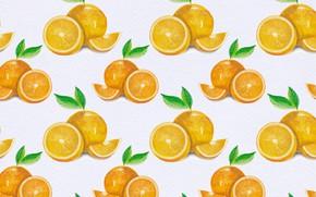 Картинка фон, апельсины, текстура, Orange, background, pattern