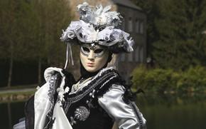 Картинка украшения, шляпа, платье, маска, карнавальный костюм