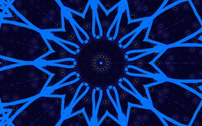 Картинка синий, абстракция, узор