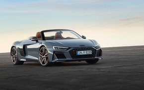 Картинка Audi R8, Spyder, V10, 2019