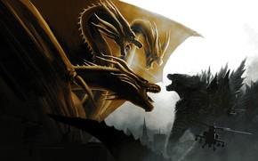 Картинка монстры, 2019, Godzilla King of the Monsters, Godzilla King of the Monsters (2019), Годзила