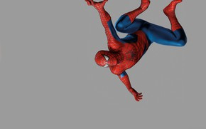 Картинка серый фон, комиксы, человек паук