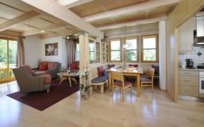 Картинка интерьер, кухня, гостиная, столовая, Region Villach, Bodensdorf