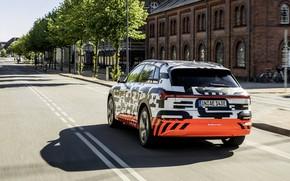 Картинка движение, Audi, проспект, 2018, E-Tron Prototype