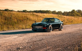 Картинка дорога, дизайн, стиль, спортивная, Nissan, Автомобиль, Datsun, 240z 6