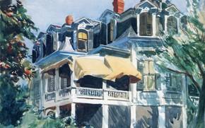 Картинка 1923, Edward Hopper, The Mansard Roof