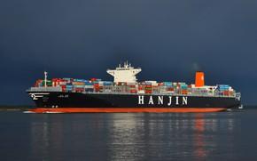 Картинка Вода, Судно, Контейнеровоз, Gold, Vessel, Hanjin, Hanjin Shipping, Container Ship, Hanjin Gold, M/V Hanjin Gold